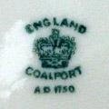 dating coalport china marks The pottery and porcelain marks china chat - english section well, after 1850 is the date you are looking for firms had the privilege of warrants yet some didn 't bother to use it in their names (wedgwood, coalport, paragon for example.
